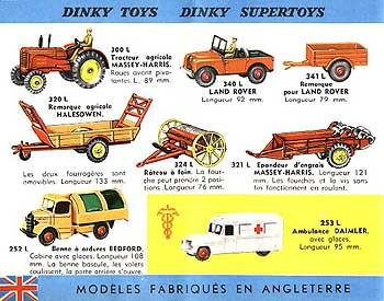 Французский каталог Katalog Dinky Toys - French 1962