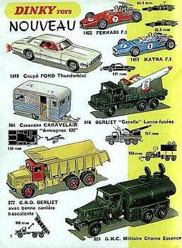 Французский каталог Katalog Dinky Toys - French 1969