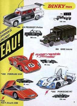 Французский каталог Katalog Dinky Toys - French 1970