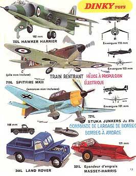 Французский каталог Katalog Dinky Toys - French 1971