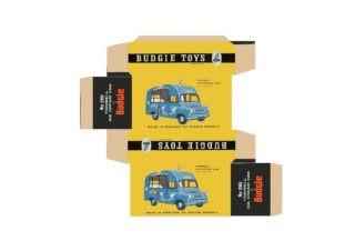 Budgie - Benbros - Corgi toys - Matchbox - Dinky - Templates for printing boxes