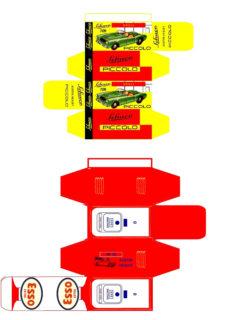 Morestone - Corgi toys - Matchbox - Dinky - Templates for printing boxes