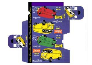 Schuco - Corgi toys - Matchbox - Dinky - Templates for printing boxes
